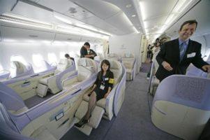 A380機内ファーストクラス
