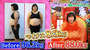 ゆりやん ,ゆりやんレトリィバァ,痩せた,ダイエット